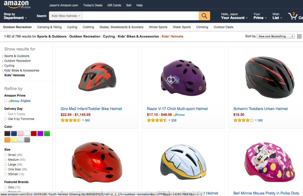 Amazon Kids Bike Helmets
